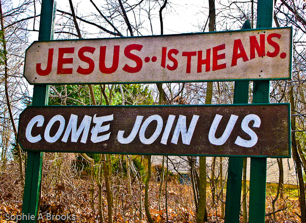 Jesus is the Ans.